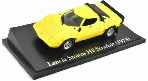 Atlas KL27 1/43 Scale Classic Sports Cars Lancia Stratos HF Stradale 1973 Yellow